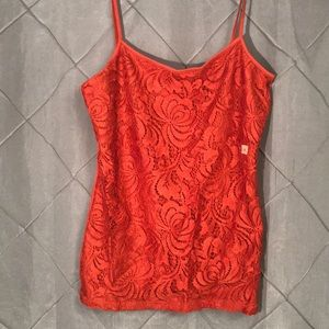 NWT And Taylor Lace /brick adjustable strap Cami S